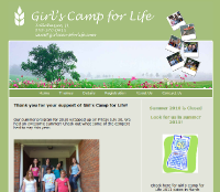 Website - Girls Camp for Life